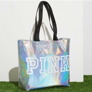 New Victoria's Secret Pink Iridescent Tote Bag